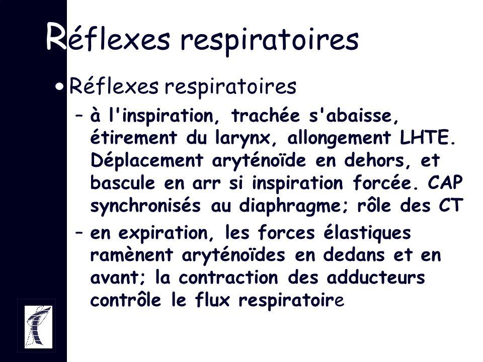 Réflexes respiratoires