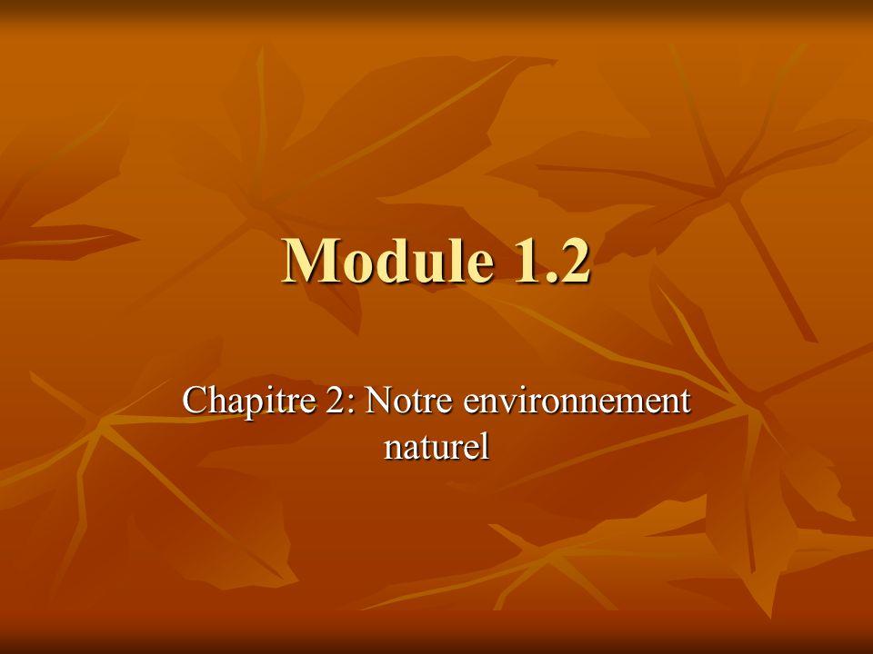 Chapitre 2: Notre environnement naturel