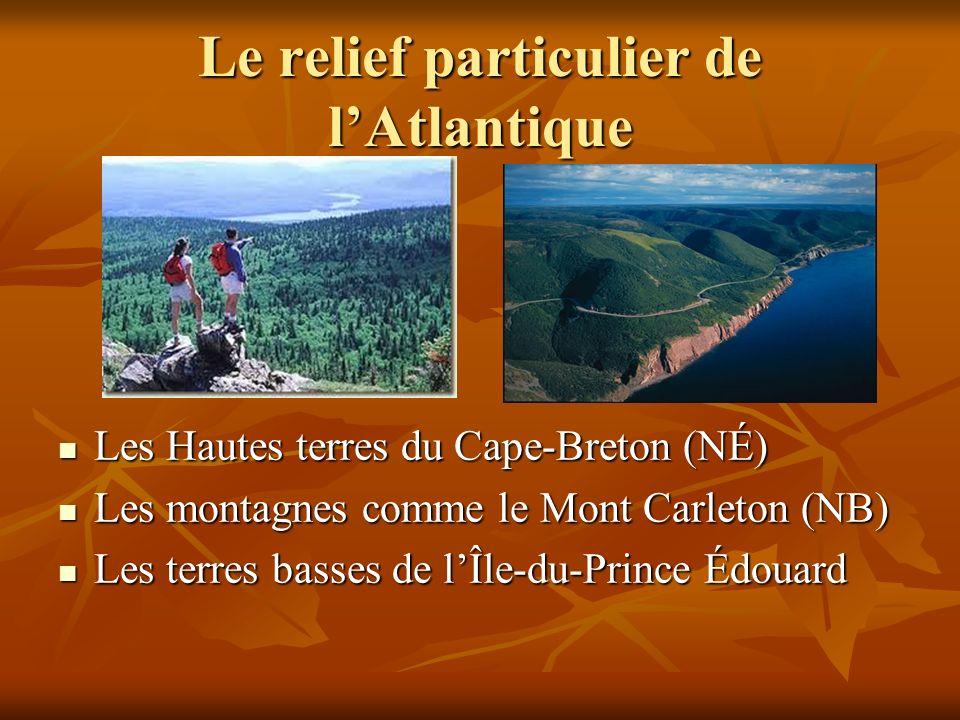 Le relief particulier de l'Atlantique