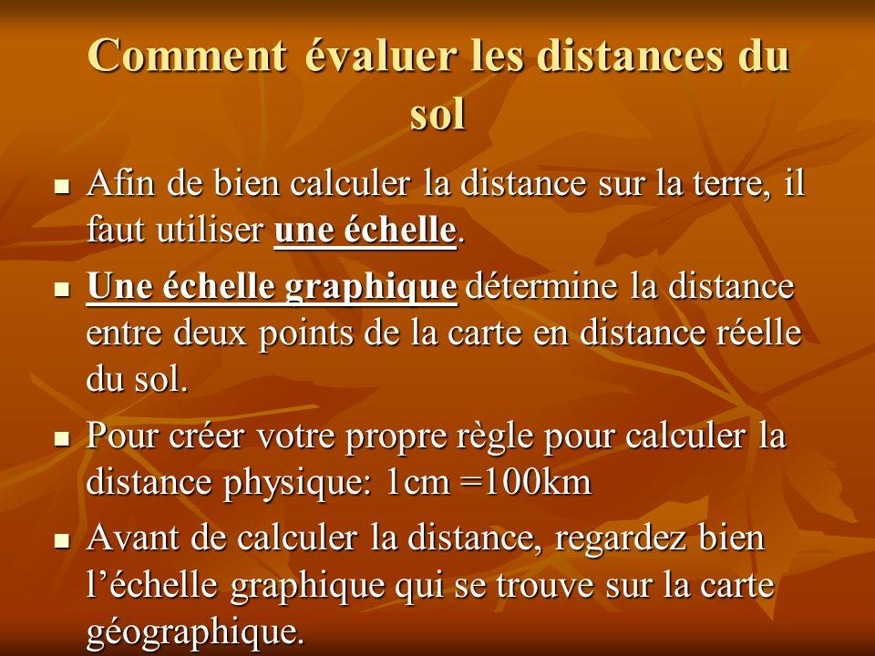 Comment évaluer les distances du sol