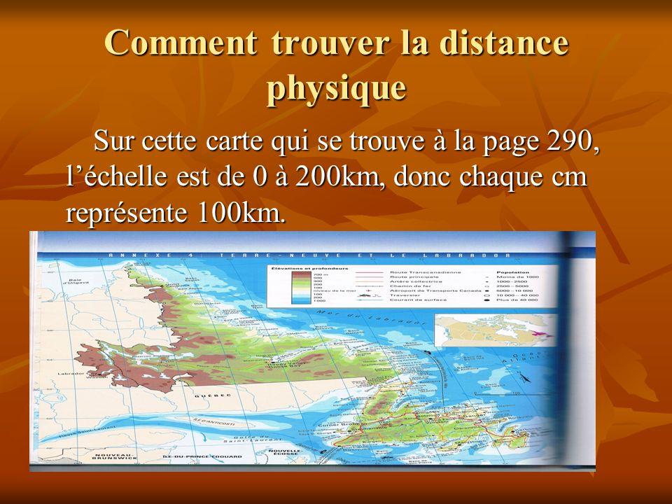 Comment trouver la distance physique