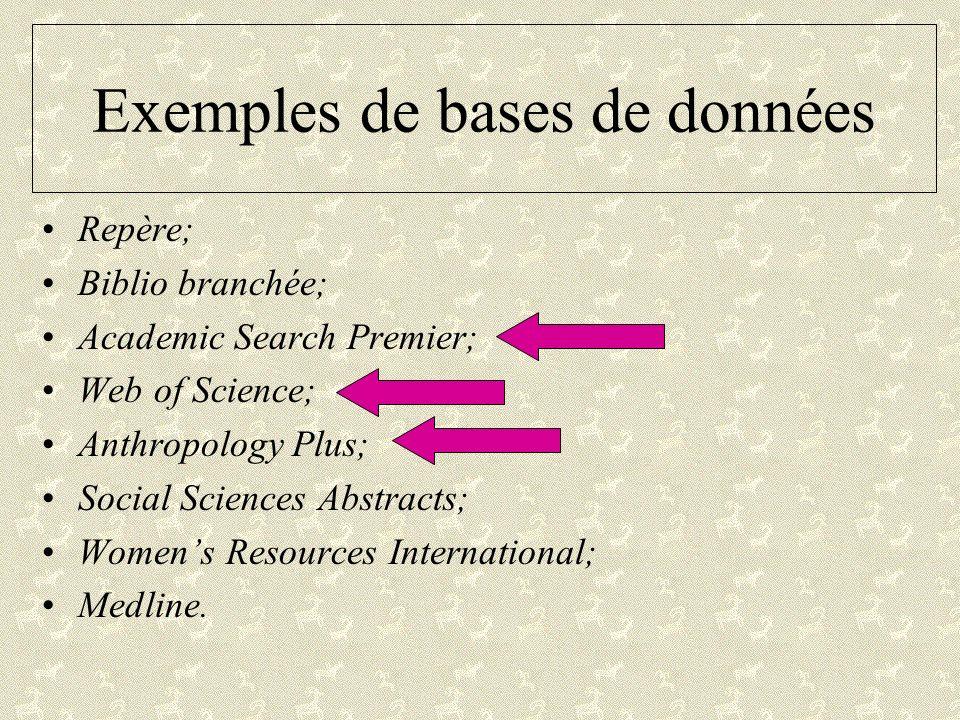 Exemples de bases de données