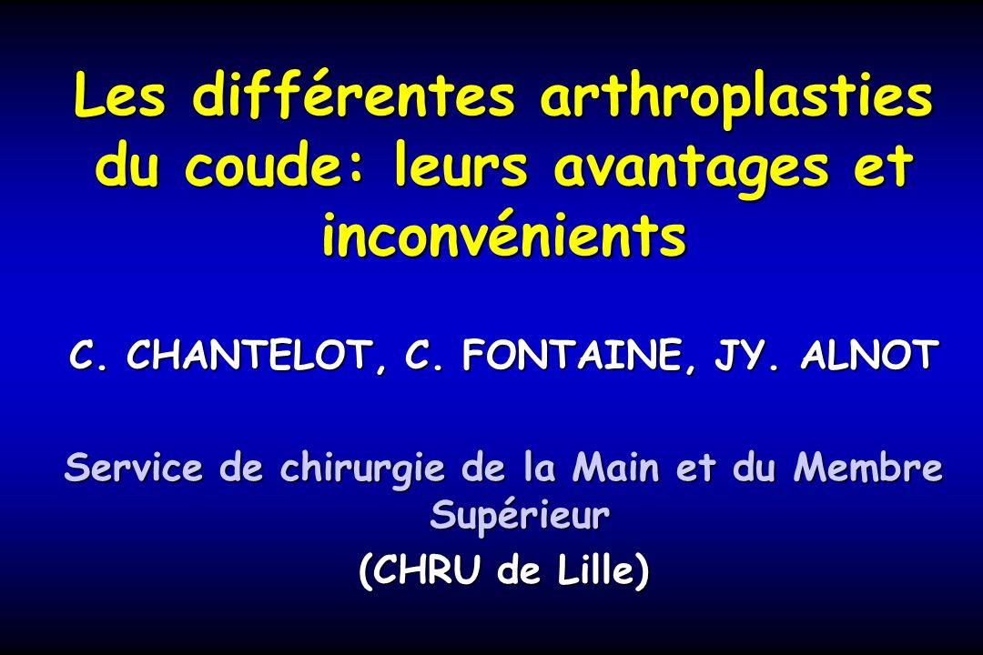 Les différentes arthroplasties du coude: leurs avantages et inconvénients