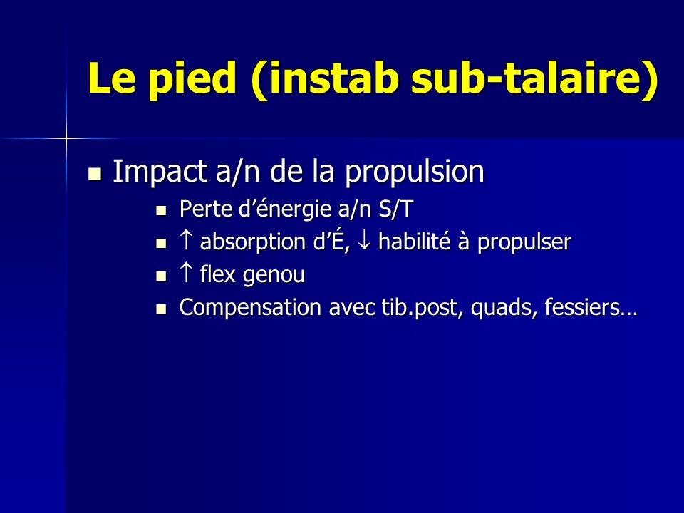 Le pied (instab sub-talaire)