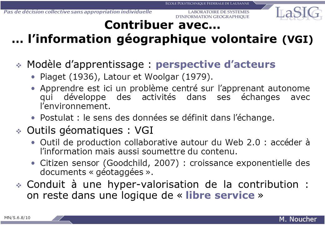 Contribuer avec... … l'information géographique volontaire (VGI)