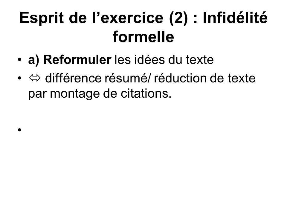 Esprit de l'exercice (2) : Infidélité formelle
