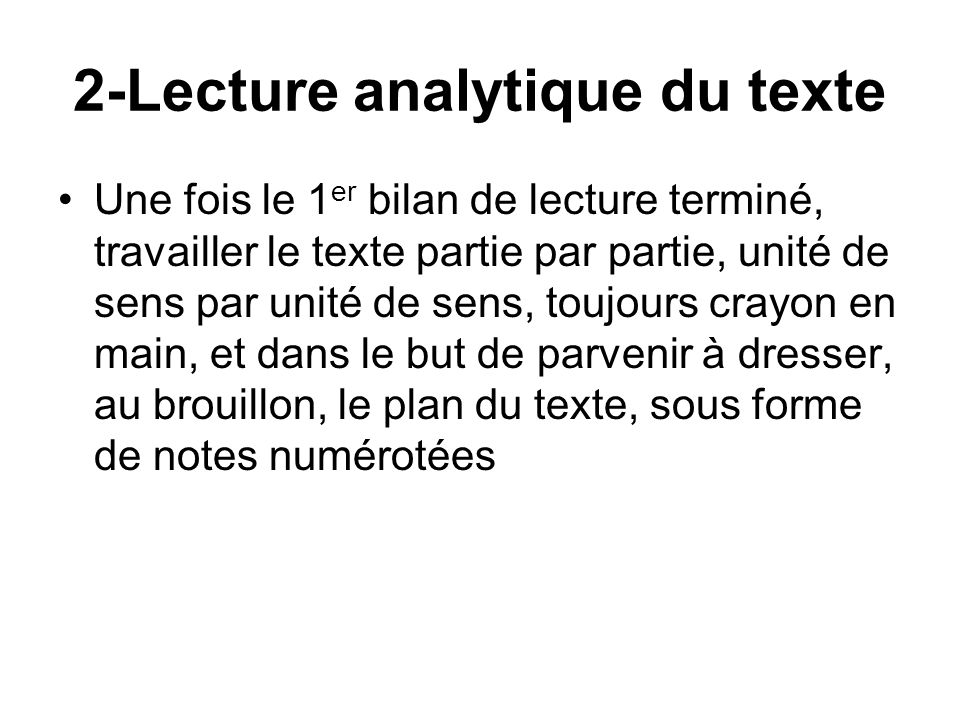 2-Lecture analytique du texte