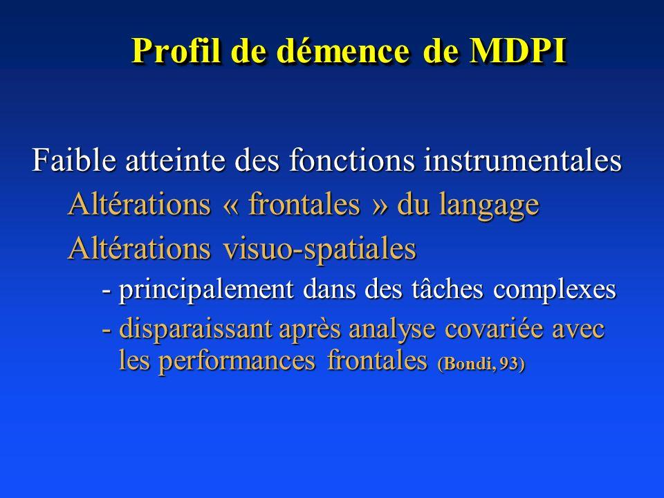 Profil de démence de MDPI