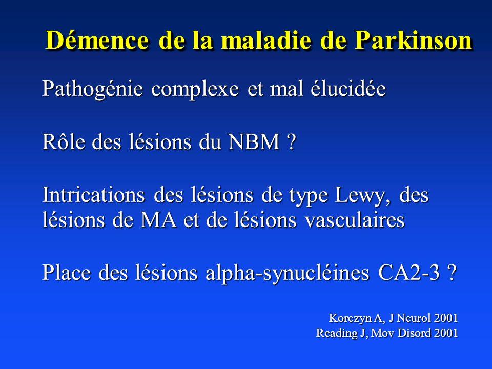 Démence de la maladie de Parkinson
