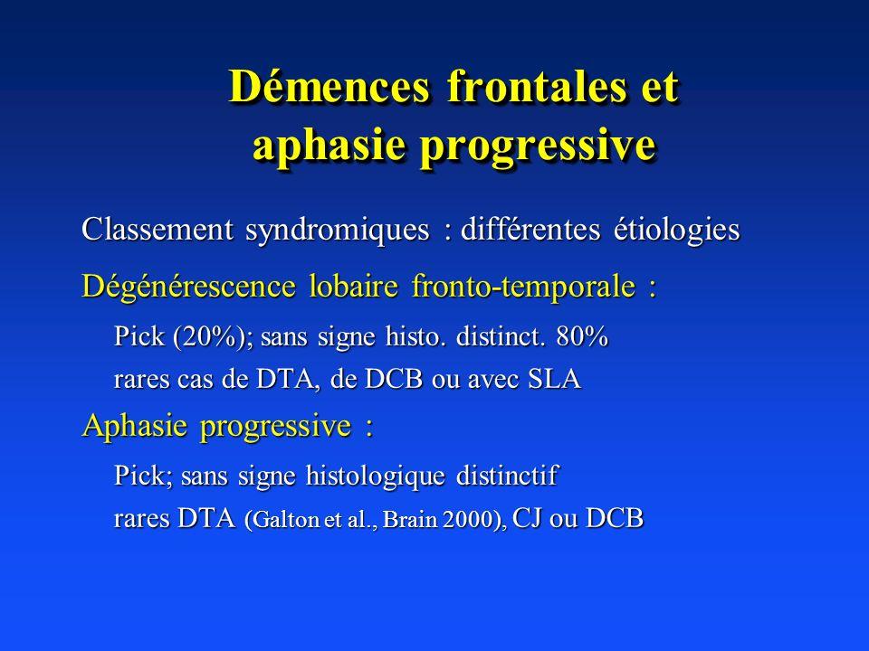Démences frontales et aphasie progressive
