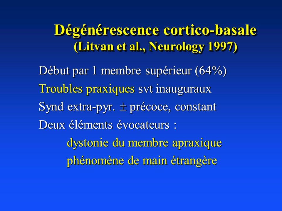 Dégénérescence cortico-basale (Litvan et al., Neurology 1997)
