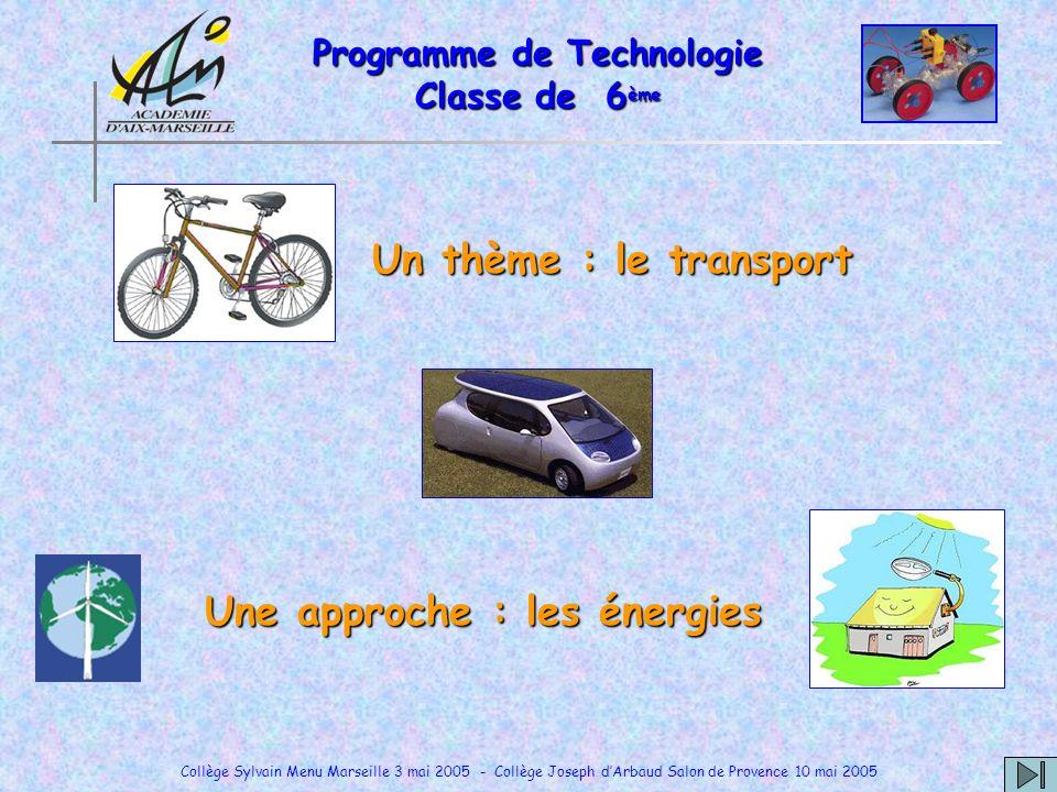 Programme de Technologie Classe de 6ème