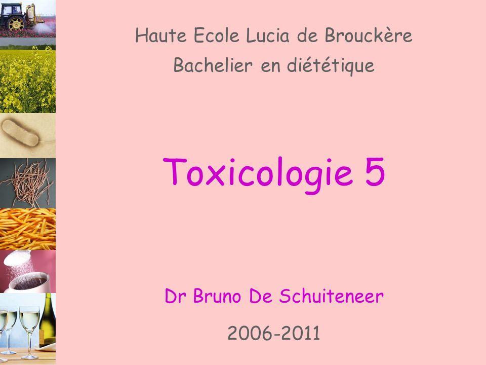 Toxicologie 5 Haute Ecole Lucia de Brouckère Bachelier en diététique
