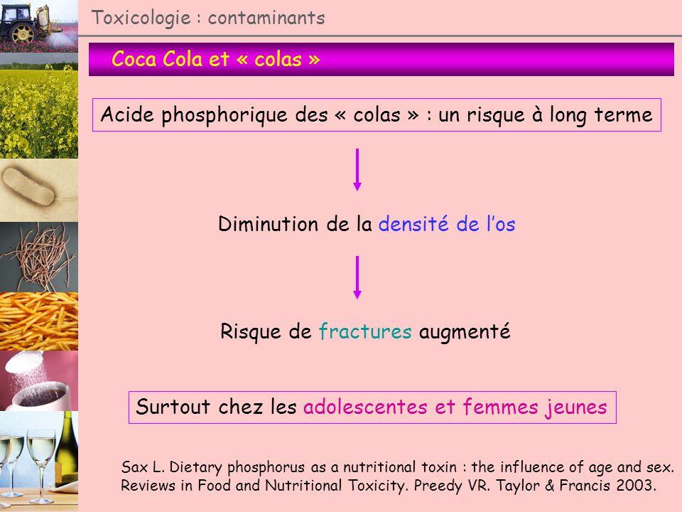 Acide phosphorique des « colas » : un risque à long terme