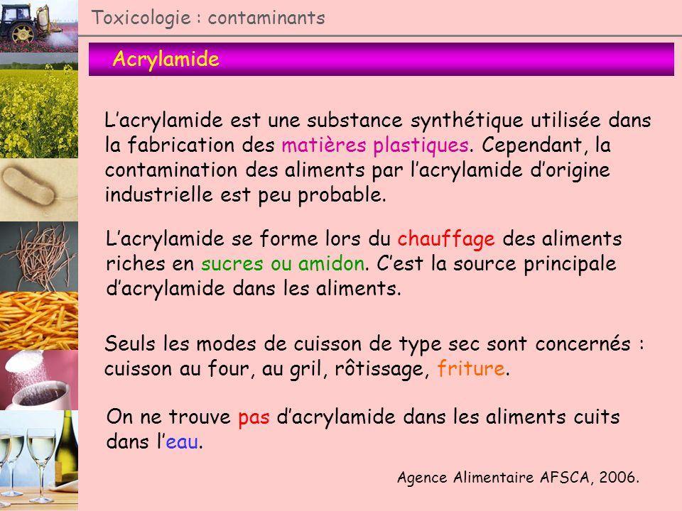 L'acrylamide est une substance synthétique utilisée dans