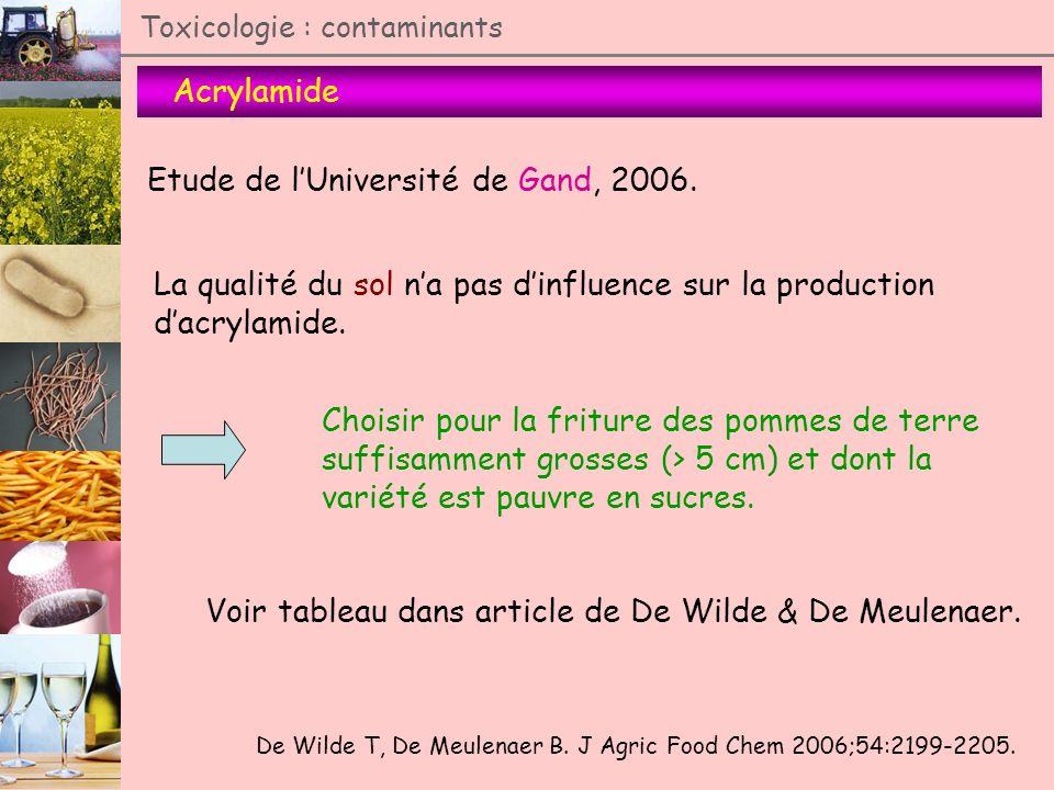 Etude de l'Université de Gand, 2006.