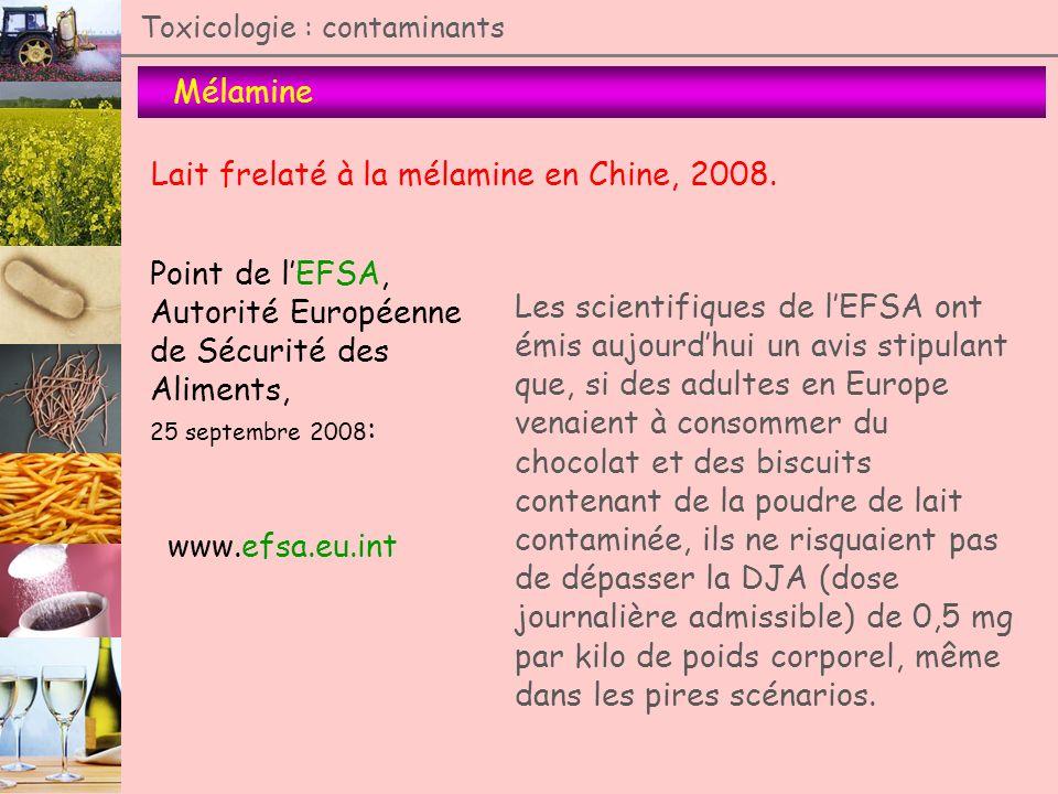 Lait frelaté à la mélamine en Chine, 2008.
