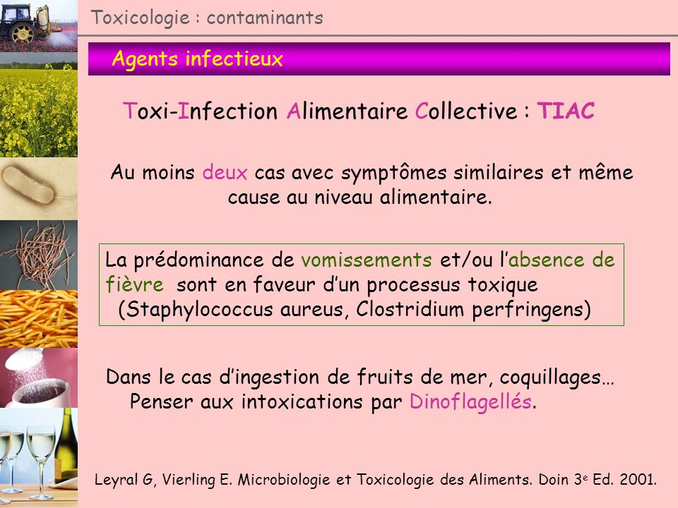 Toxi-Infection Alimentaire Collective : TIAC