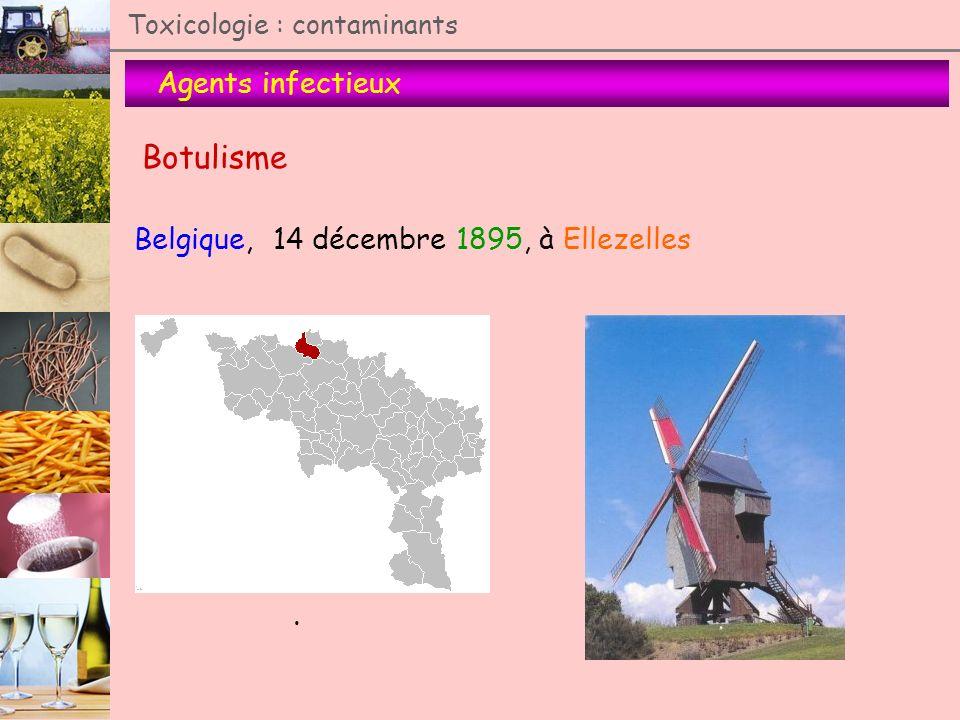 Botulisme Agents infectieux Belgique, 14 décembre 1895, à Ellezelles .