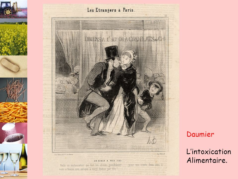 Daumier L'intoxication Alimentaire.