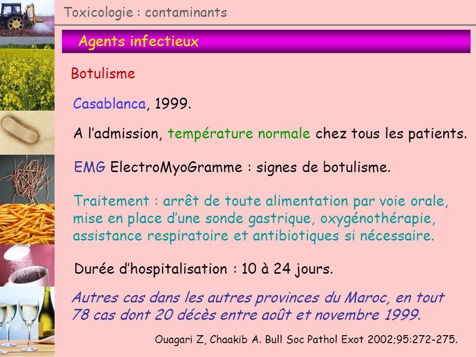 A l'admission, température normale chez tous les patients.