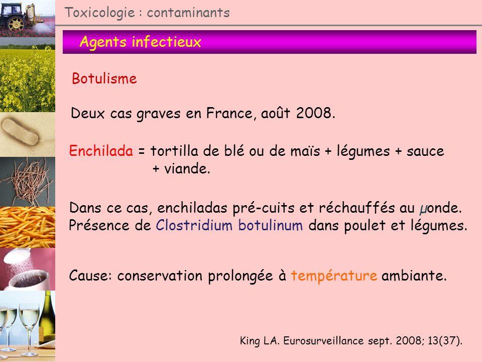 Deux cas graves en France, août 2008.