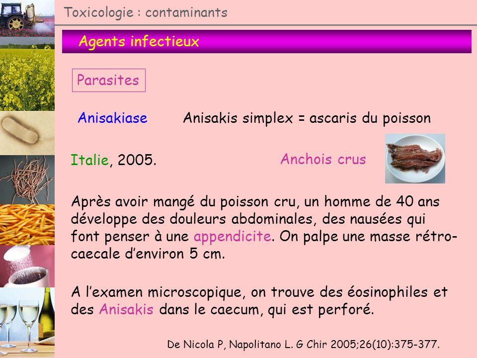 Anisakis simplex = ascaris du poisson