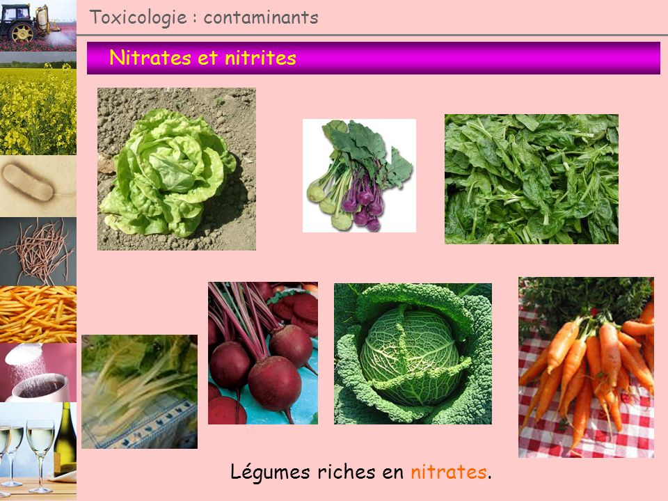 Légumes riches en nitrates.