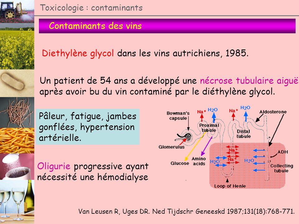 Diethylène glycol dans les vins autrichiens, 1985.