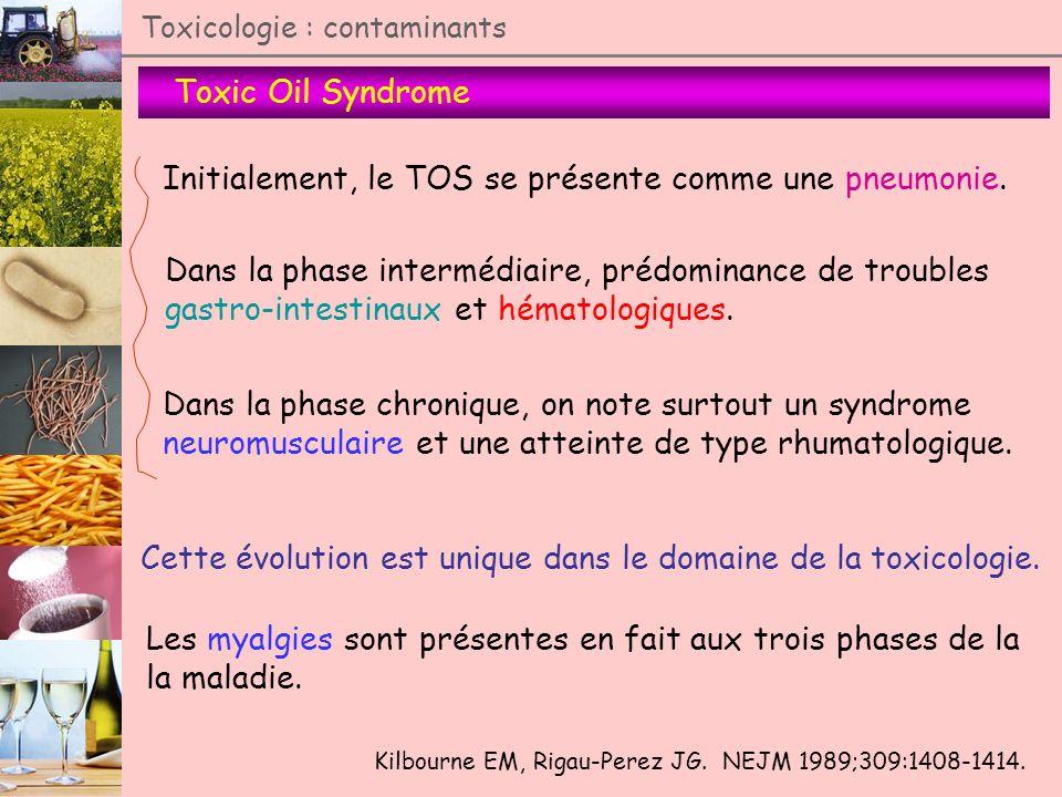 Initialement, le TOS se présente comme une pneumonie.