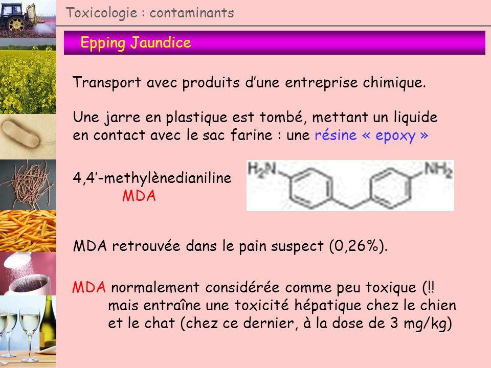 Transport avec produits d'une entreprise chimique.