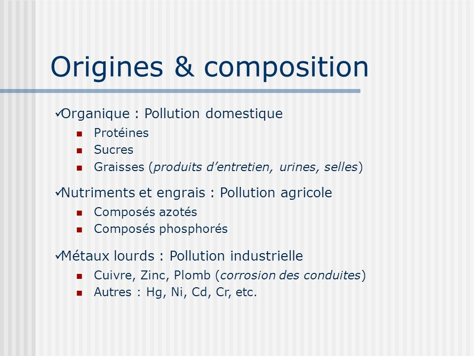 Origines & composition