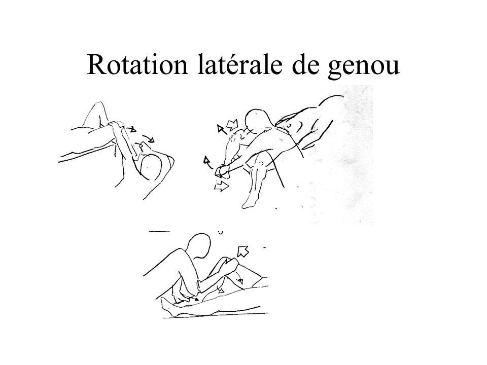 Rotation latérale de genou