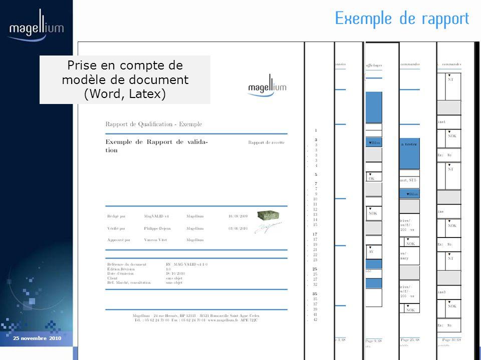Prise en compte de modèle de document (Word, Latex)