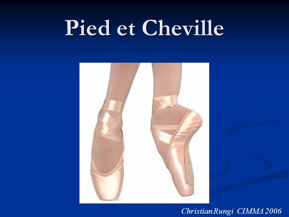 Pied et Cheville Christian Rungi CIMMA 2006