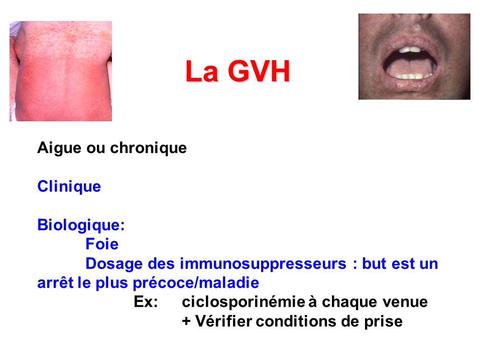 La GVH Aigue ou chronique Clinique Biologique: Foie