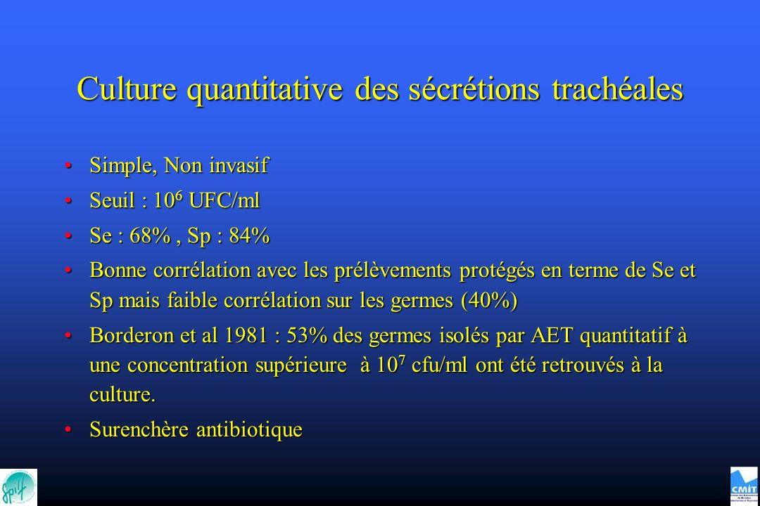 Culture quantitative des sécrétions trachéales