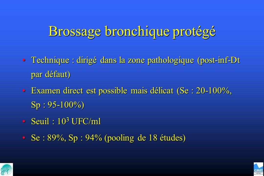 Brossage bronchique protégé