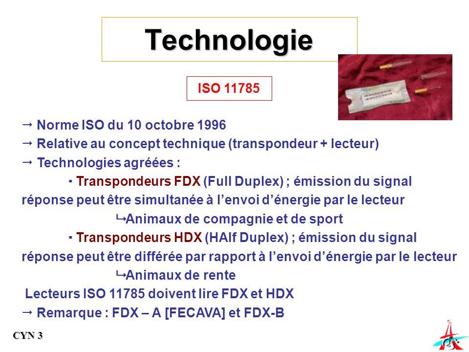 Technologie ISO 11785 Norme ISO du 10 octobre 1996