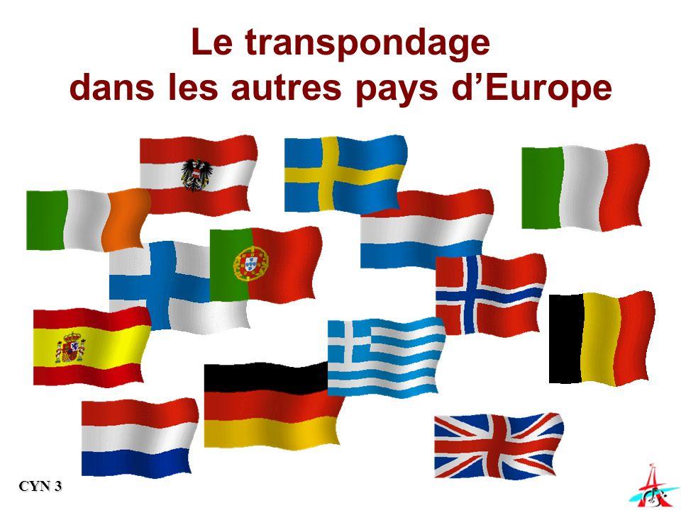 Le transpondage dans les autres pays d'Europe