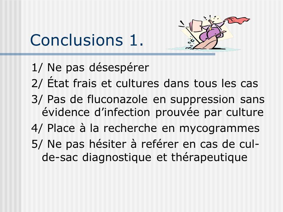 Conclusions 1. 1/ Ne pas désespérer