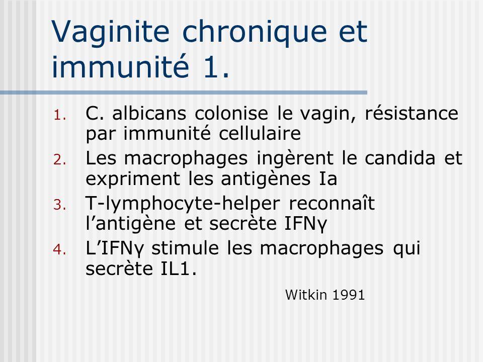 Vaginite chronique et immunité 1.