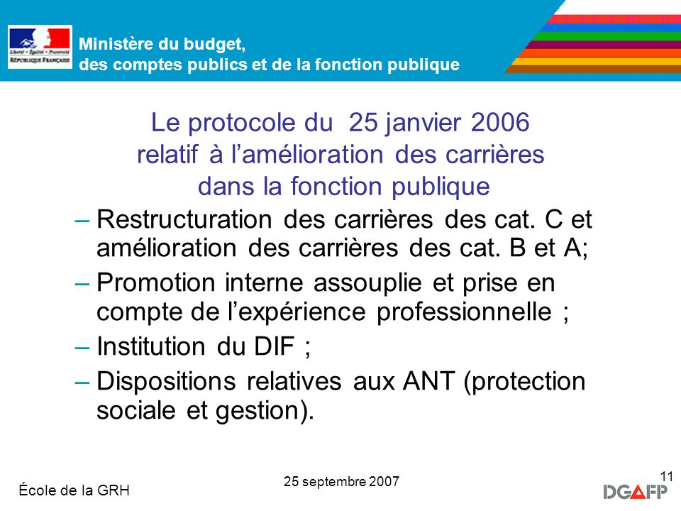 Dispositions relatives aux ANT (protection sociale et gestion).
