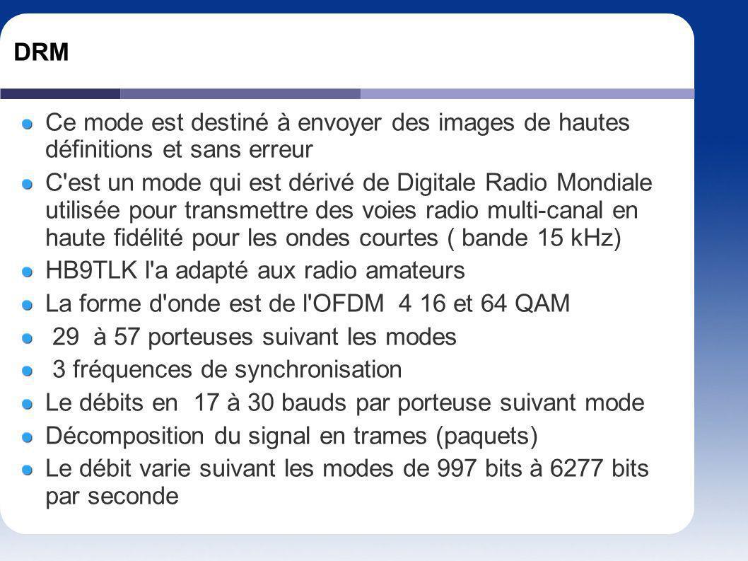DRM Ce mode est destiné à envoyer des images de hautes définitions et sans erreur.