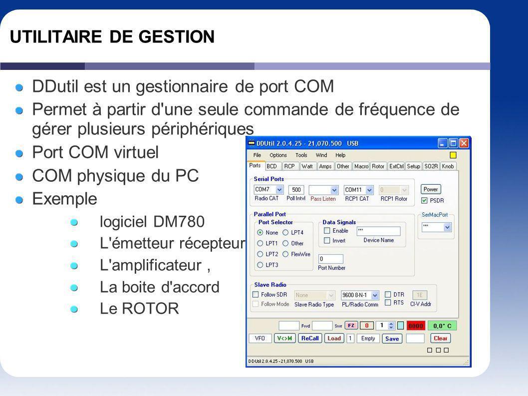 DDutil est un gestionnaire de port COM