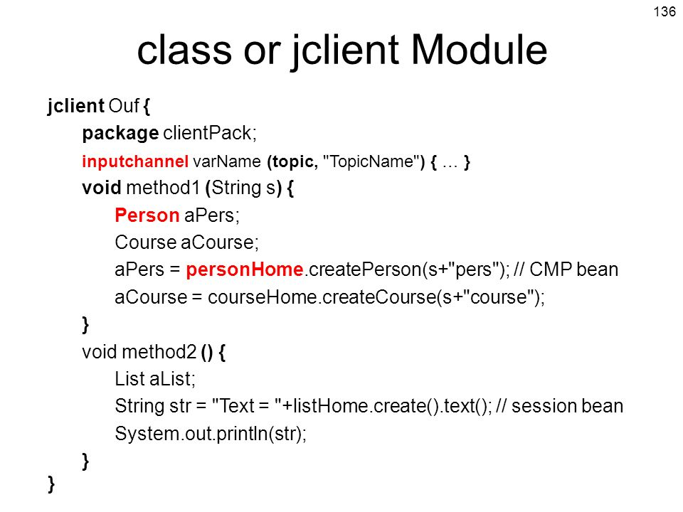 class or jclient Module