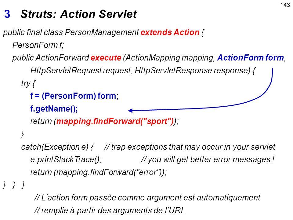 3 Struts: Action Servlet