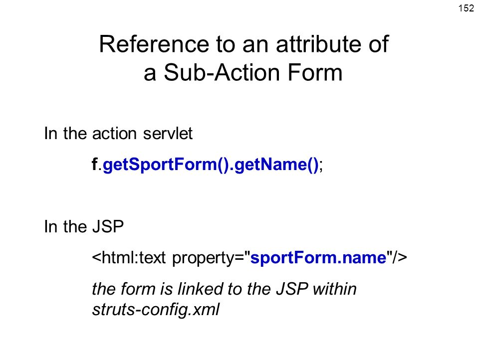 Reference to an attribute of a Sub-Action Form