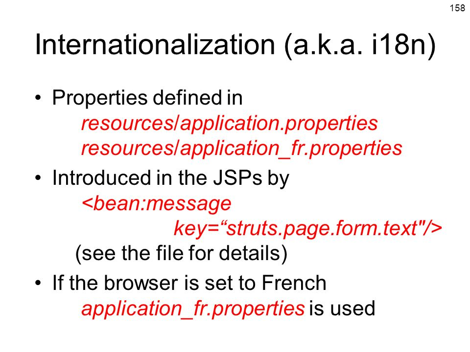 Internationalization (a.k.a. i18n)