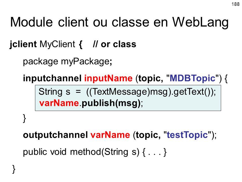Module client ou classe en WebLang